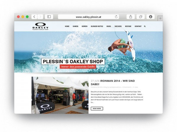 Plessin´s Oakley Shop